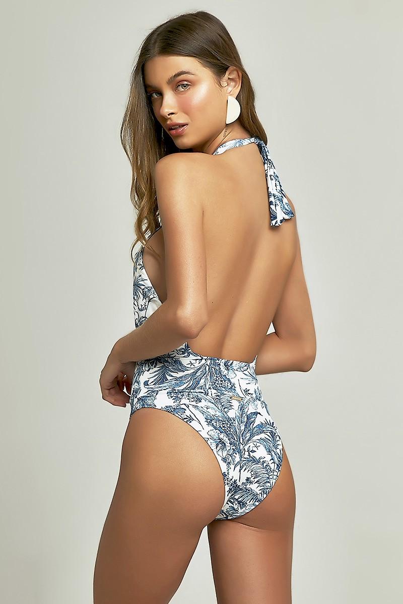 Body Sasha Estampa Indigo Tropical