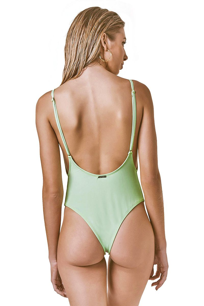 Body Sideboob Estampa USA verde