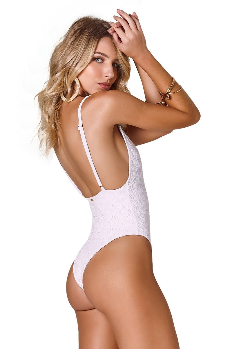 Body Sideboob Renda Vival Branco