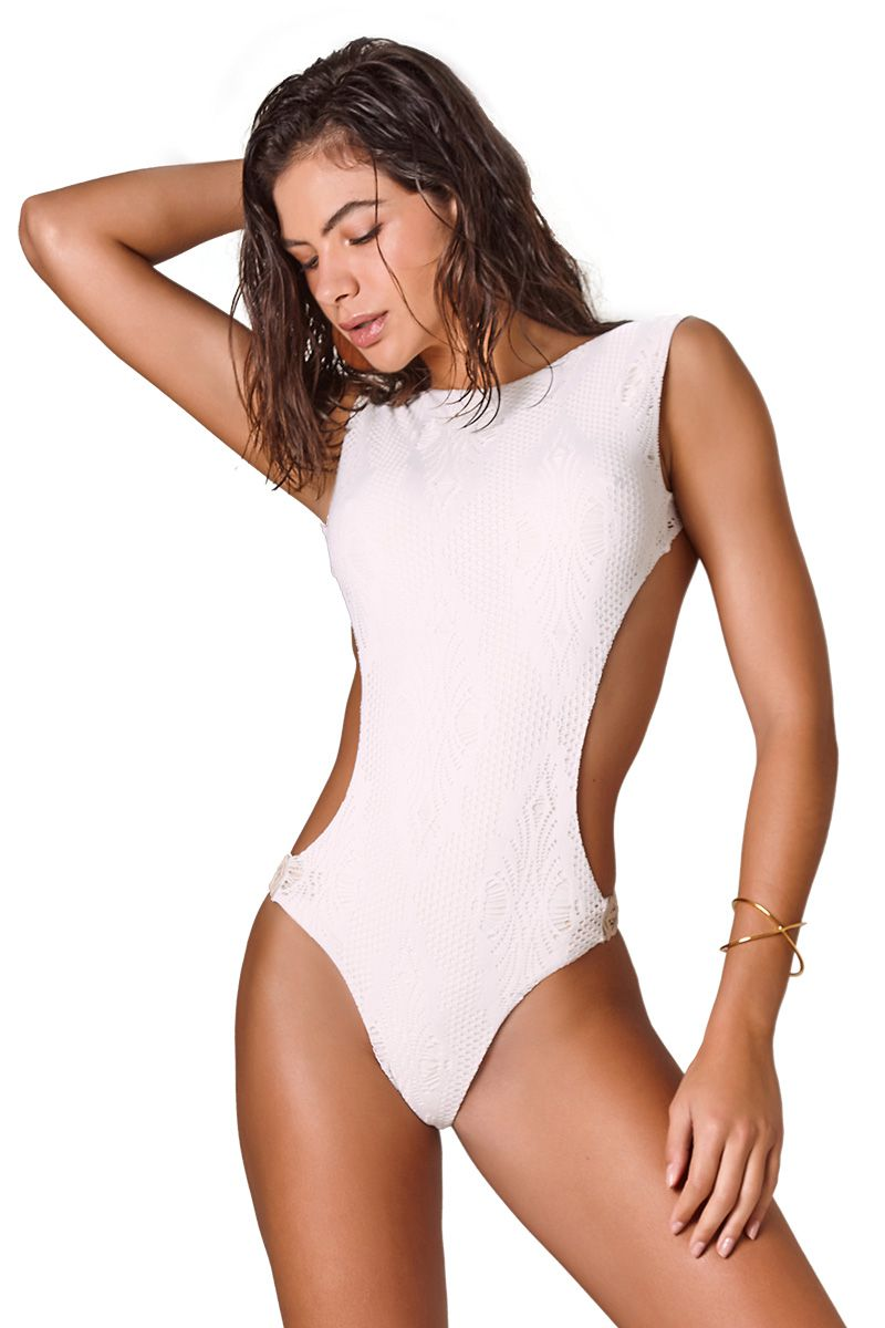 Body Soho Renda Losango Off White