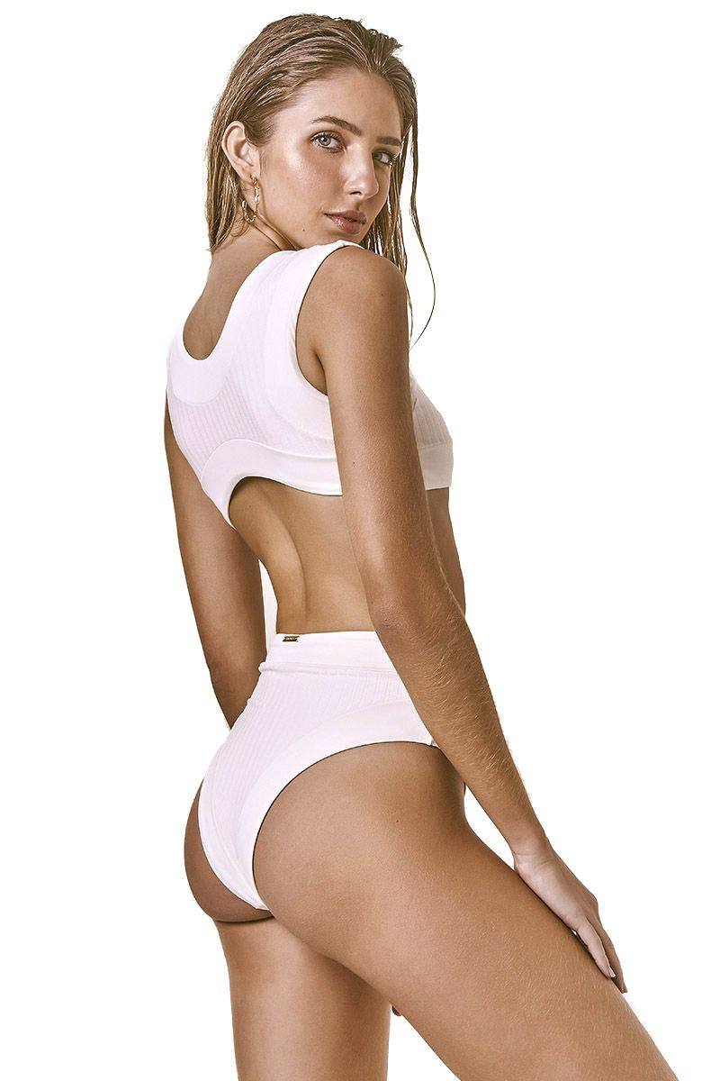 Body Sporty Canelado Off White