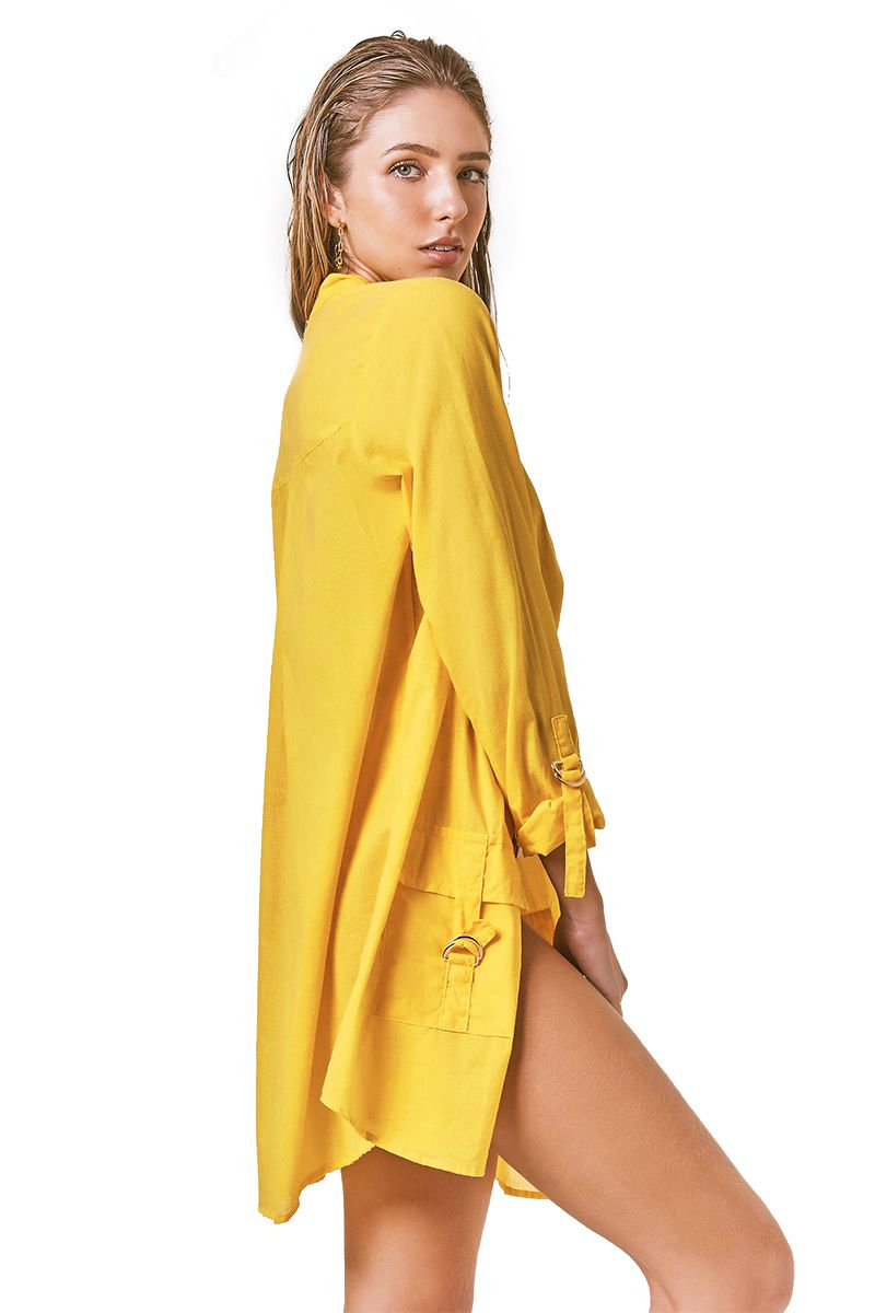 Camisa Safari Amarelo Sunshine