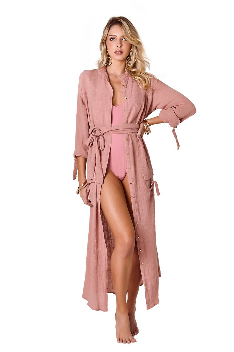 Camisa Safari Long Rose Blush