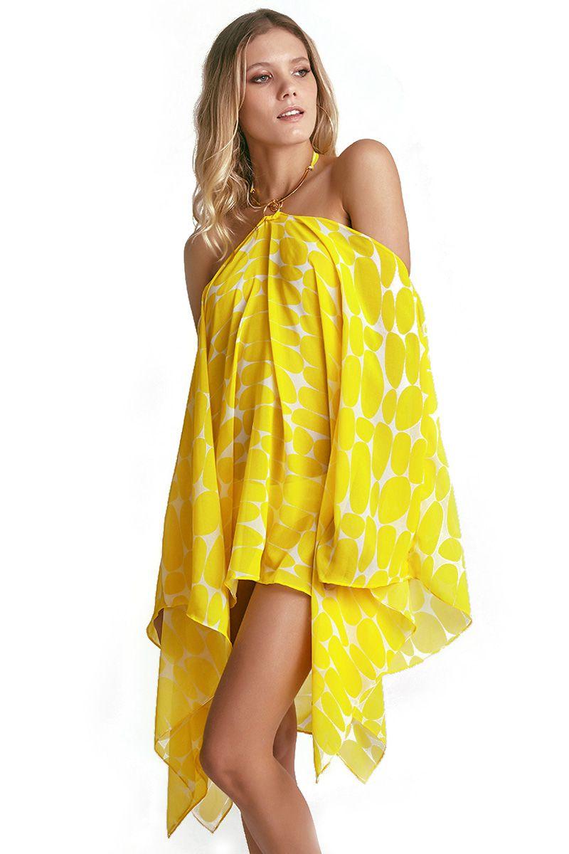 db06d8372 Kaftan Bardot Estampa Leblon Amarelo - Empress Brasil Confecções Ltda ME ...