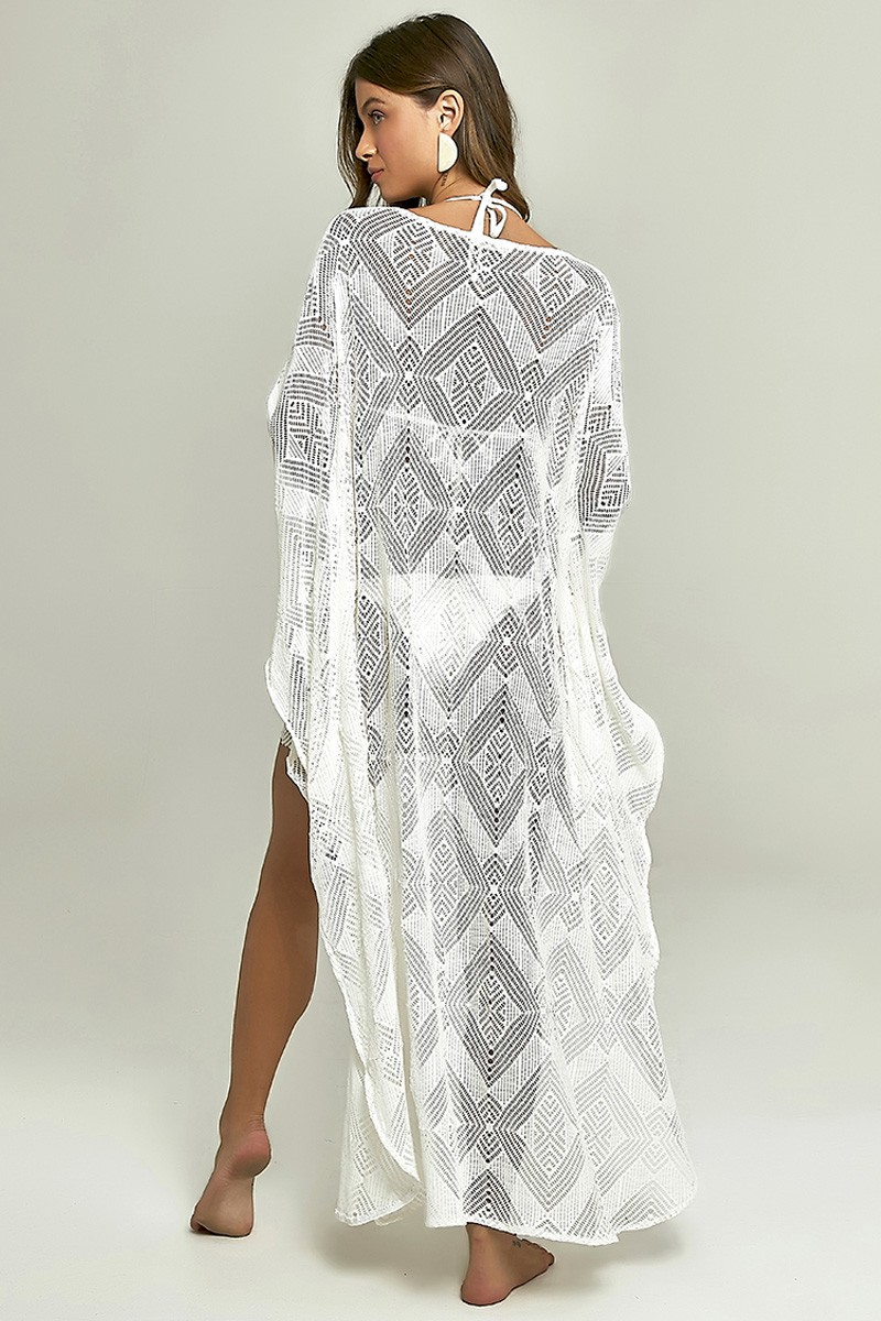 Kaftan Maresias Renda Off White