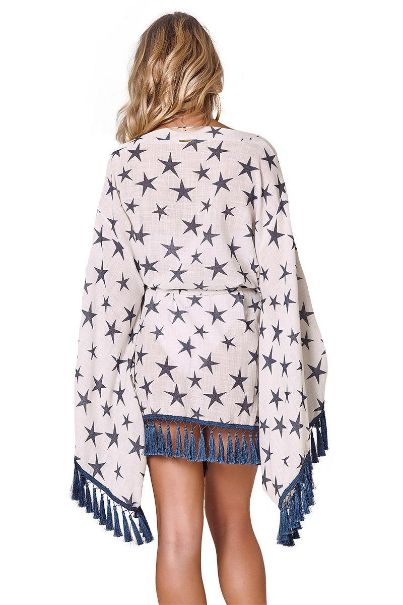 Kimono Lounge Estampa Star Azul