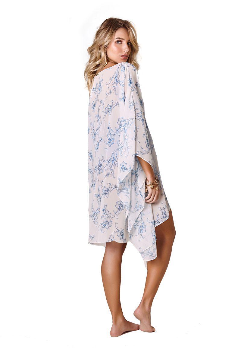 Kimono Malaga Estampa Barroco Azul