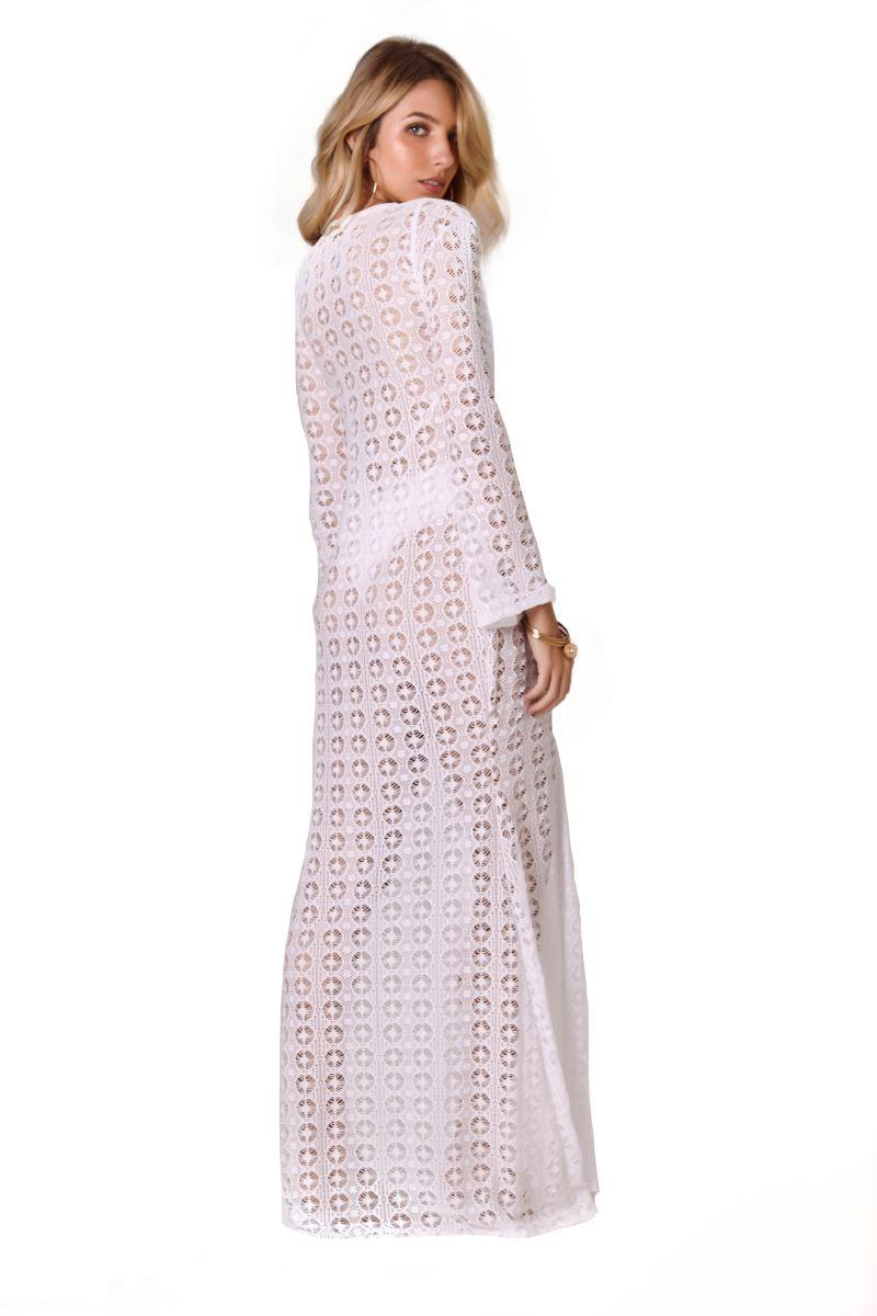 Robe Sixty Renda Vival Branco