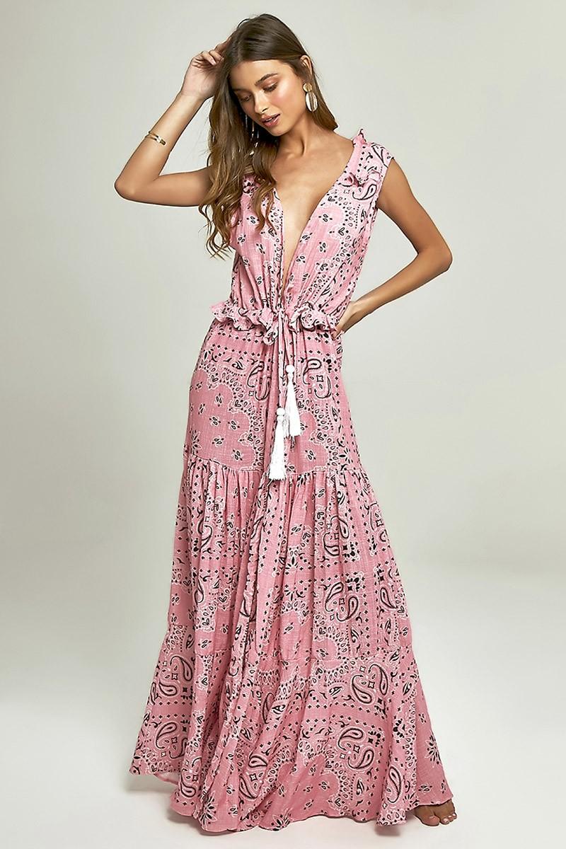 Robe Sophie Estampa Bandana Pink
