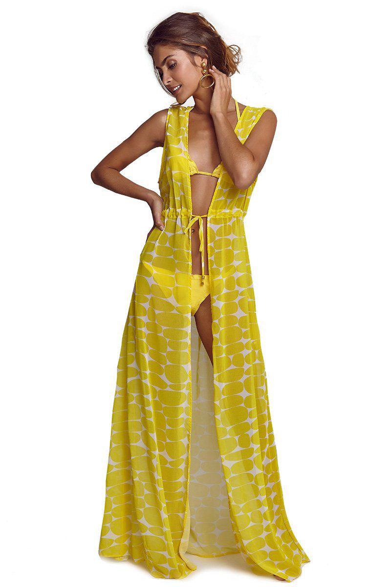 Robe Sophie Estampa Leblon Amarelo