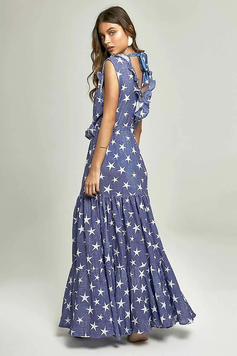 Robe Sophie Estampa Star Denim