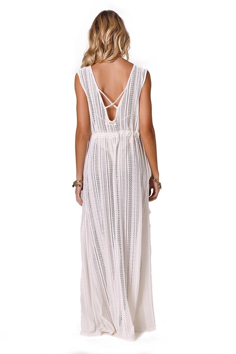 Robe Sophie Renda listras off white