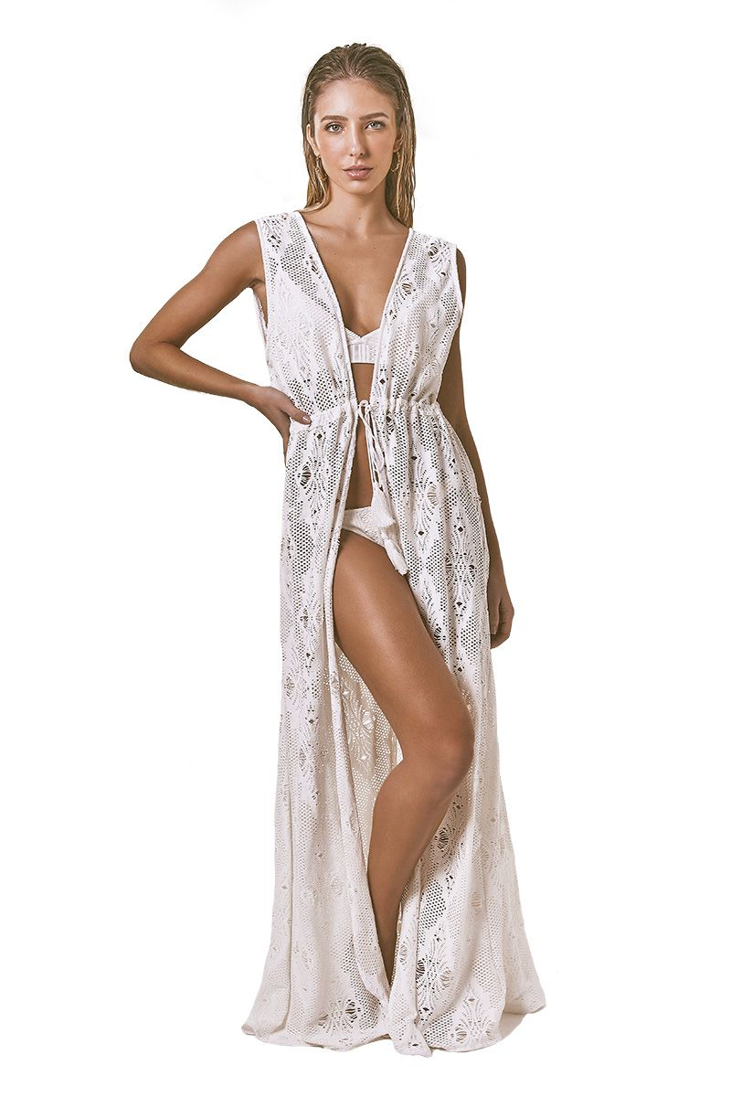 Robe Sophie Renda losango off white