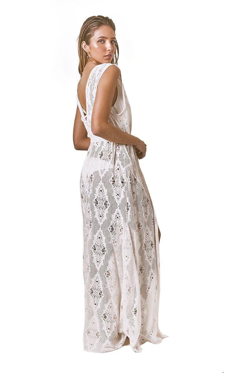 Robe Sophie Renda losango off white