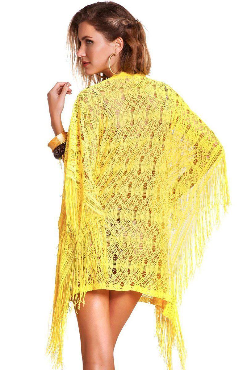 Tunica Fringe Renda Amarelo Sunshine
