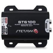 Adaptador Conversor Fio Para Rca Stetsom ST-6100 2 Canais 12v Filtro Anti Ruído Saída Remoto