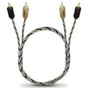 Cabo Rca Automotivo Blindado Taramps 40 Cm Flexível Conectores Alta Pressão Banhados Ouro Injetado PVC