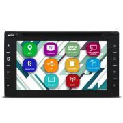Central Multimídia Automotivo 2 Din 6.2 Pol Tay Tech T95 Dual Plus Universal GPS TV Digital Dvd Espelhamento Android