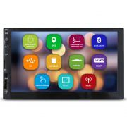 Central Multimidia Automotivo 2 Din 7 Pol E-Tech Mp5 Premium Universal Android GPS Espelhamento Wifi Bluetooth Usb Aux