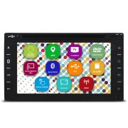 Central Multimídia Automotivo 2 Din Android 6.2 Pol Tay Tech S95 Premium Universal GPS TV Digital Dvd Espelhamento Wifi