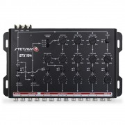 Crossover Automotivo Stetsom 5 Vias STX-104 Digital 12v Mesa Som Bass Boost Level Phase Subsonic Filter