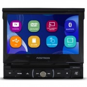 Dvd Player Automotivo 1 Din 7 Polegadas Positron SP6730-DTV Retrátil Tv Digital Bluetooth Espelhamento Android Usb Sd