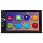 Dvd Player Automotivo 2 Din 6.2 Polegadas H-Tech HDV-4010 Bluetooth Espelhamento Android Usb Aux Entrada Camera Ré
