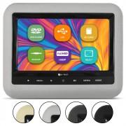Encosto Cabeça Acoplar Automotivo Tela 7 Polegadas E-Tech Monitor Dvd Usb Ajuste Altura Universal