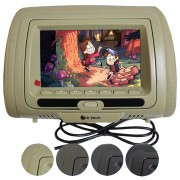 Encosto Cabeça Automotivo Tela 7 Polegadas E-Tech Monitor Dvd Usb Ajuste Altura Universal
