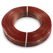 Fio Cabo Paralelo 2x1,50 mm 2x14 Cristal Permak 100 Metros Flexível Vermelho