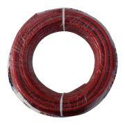Fio Cabo Positivo 10 mm 25 Metros Automotivo Tecniforte Flexível Cristal Vermelho Cobre Rolo