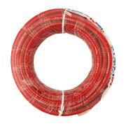 Fio Cabo Positivo 35 mm 10 Metros Automotivo Tecniforte Flexível Cristal Vermelho Cobre Rolo