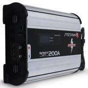 Fonte Automotiva Stetsom 200-a Infinite Monovolt Digital 12v Cooler Voltímetro Amperímetro Carregador Ajuste Tensão ABS