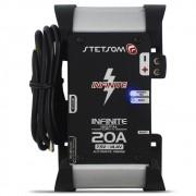 Fonte Automotiva Stetsom 20-a Infinite Bivolt Digital 12v Cooler Carregador ABS Reset