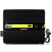 Fonte Automotiva Taramps 60-a Pro Charger Bivolt Digital 12v Smart Cooler Voltímetro Amperímetro Carregador
