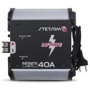 Fonte Automotivo Stetsom 40-a Infinite Bivolt Digital 12v Cooler Carregador Ajuste Tensão ABS