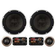 Kit 2 Vias Audiophonic 6 Polegadas HTK-6.2 H-Tech 90w Rms Par Alto Falante Mini Tweeter Painel Total 140w Rms