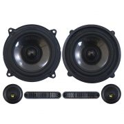 Kit 2 Vias Bravox 5 Polegadas CS50-BK 130w Rms Par Alto Falante Mini Tweeter Painel Total 190w Rms