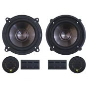 Kit 2 Vias Bravox 5 Polegadas CS50-P 120w Rms Par Alto Falante Mini Tweeter Painel Total 200w Rms