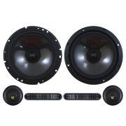 Kit 2 Vias Bravox 6 Polegadas CS60-BK 130w Rms Par Alto Falante Mini Tweeter Painel Total 190w Rms