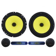 Kit 2 Vias Bravox 6 Polegadas CS60-K 160w Rms Par Alto Falante Mini Tweeter Painel Total 240w Rms