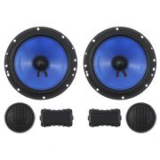Kit 2 Vias Hurricane 6 Polegadas CM-6.2 130w Rms Par Alto Falante Mini Tweeter Painel Total 180w Rms