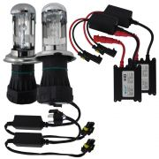 Kit Lampada Bi Xenon H4-3 6000k 3000 Lúmens 12v 35w Ray X Farol Alto Baixo
