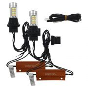 Kit Lampada Super Led Drl Universal Led Drl & Turn Light T20 1000 Lúmens 12v 20w Ray X Seta Soquete 2 Polos Canceller