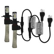 Kit Lampada Super Led H4 H15 6000k Flexivel 6400 Lúmens 12v 24v Ray X Bivolt Farol Alto Baixo Can Bus IP68