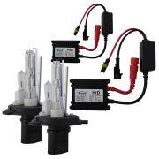 Kit Lampada Xenon H4-2 6000k 3000 Lúmens 12v 35w Ray X Farol Alto Baixo