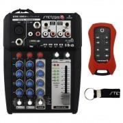 Mesa Som Automotivo Stetsom STM-1003 Multiplayer 3 Canais Bluetooth Usb Sd Fm Aux Microfone Controle Longa Distância