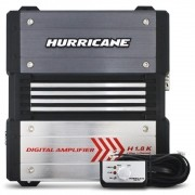 Módulo Amplificador Hurricane 1800 Rms H-1.8K Mono Digital 1 Canal 2 Ohms Classe D Crossover Bass Boost