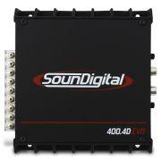 Modulo Amplificador Soundigital 400 Rms SD-400.4D Evo 2 Stereo Digital 4 Canais 2 Ohms Classe D Crossover