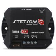 Módulo Amplificador Stetsom 100 Rms IR-100.1 Iron Line Mono Digital 1 Canal 2 Ohms Classe D Rca Crossover Remoto